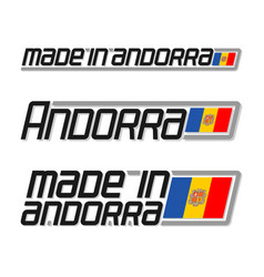 made in andorra vector image