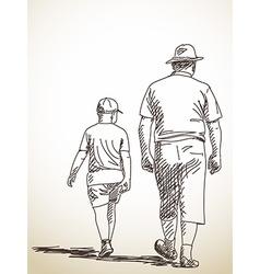 man and boy vector image