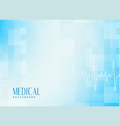 Medical healthcare blue background with vector