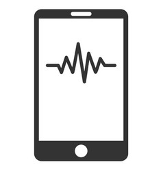 mobile signal graph flat icon vector image