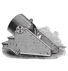 Mortar cannon vintage engraving vector image