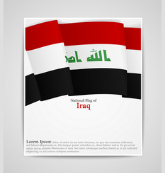 national flag of iraq vector image vector image