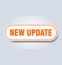 New update sign new update rounded orange sticker vector