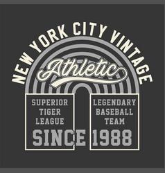 new york vintage athletic vector image