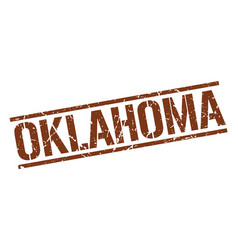 Oklahoma brown square stamp vector