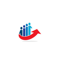 People group team arrow up logo vector