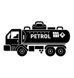 Petrol truck tank icon simple style vector
