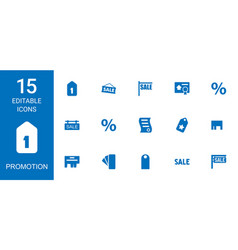 Promotion icons vector
