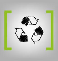 recycle logo concept black scribble icon vector image