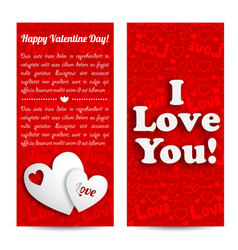 romantic lovely vertical banners vector image