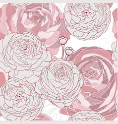 seamless floral pattern with flowers and herbs vector image