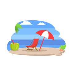 seaside sunny beach island vector image