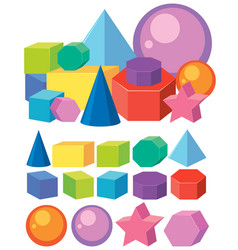 Set of math geometry shapes vector