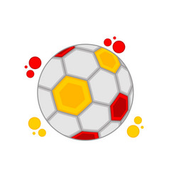 soccer ball with the colors of spain vector image