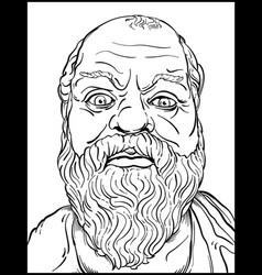 Socrates line art vector