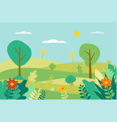 spring landscape in flat style vector image