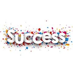 Success sign vector