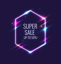 Super sale banner original poster for discount vector
