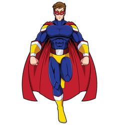 superhero mascot flying vector image