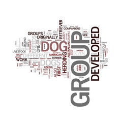 The different breeds of dogs text background word vector