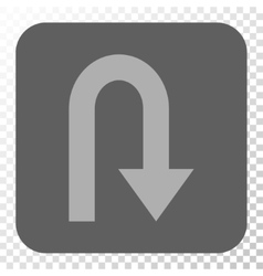 Turn Back Rounded Square Button vector