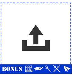 upload icon flat vector image
