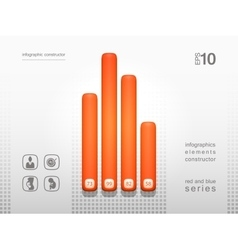 Volumetric elements of infographics vector