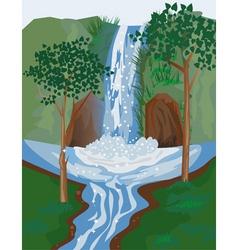 waterfall vector image vector image
