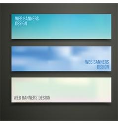 Web banners design vector