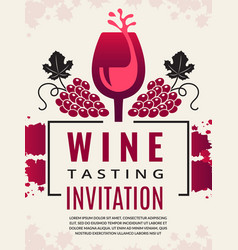 wine retro poster pictures of glass vector image