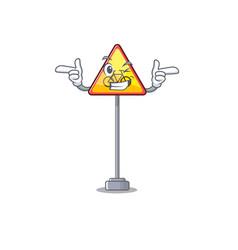 Wink no cycling character shaped a mascot vector