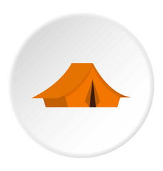 Yellow tent icon circle vector
