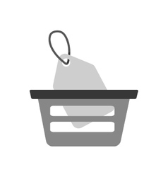 basket buying online price tag gray color vector image vector image