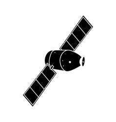 Communication satellite icon vector
