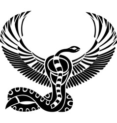 Egypt god stencil vector image vector image