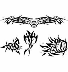 tattoos sea animals vector image vector image