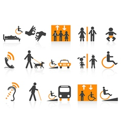 Accessibility icons set vector image vector image