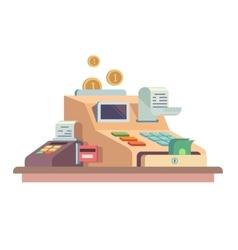Cash register apparatus vector image