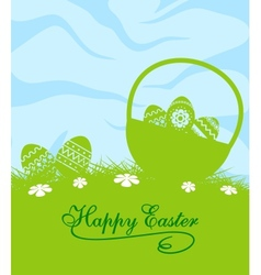 Fresh blue and green Easter background vector image