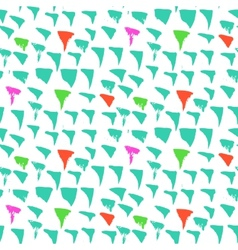 Grunge pattern with small drawn triangles vector
