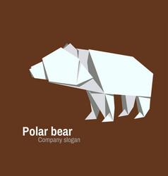 orvhami logo with polar bear vector image
