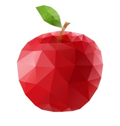 Polygonal apple vector image vector image