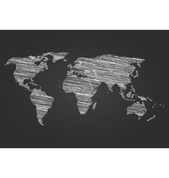 World map globe line sketch vector