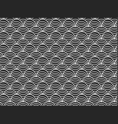 abstract seamless black and white pattern vector image