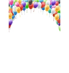 Balloons header template vector image