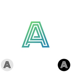Letter A linear maze style logo vector image vector image