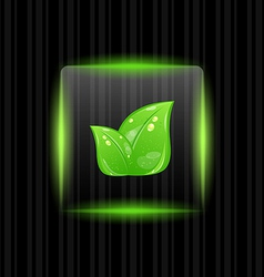 Neon Green Leaves Background vector image vector image