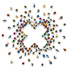 people in the heap in the form of a symbol to ban vector image vector image