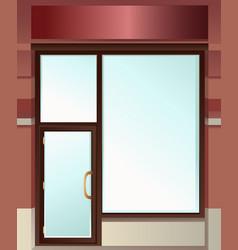 Shop window vector image