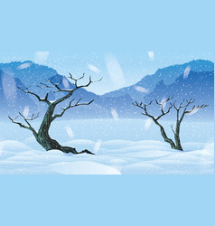 background of landscape with winter forest vector image vector image